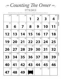 omer calendar